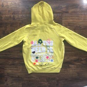 PINK Victoria's Secret Yellow Peace Hoodie / Sz LG